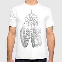 A Dreamcatcher Mens Fitted Tee White SMALL