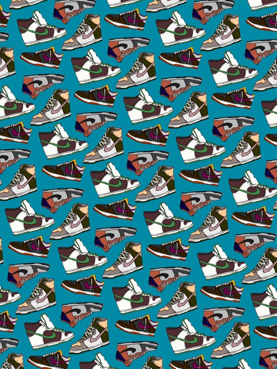 nike dunk wrapping paper Art Print