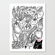 Funny Vegetables Canvas Print