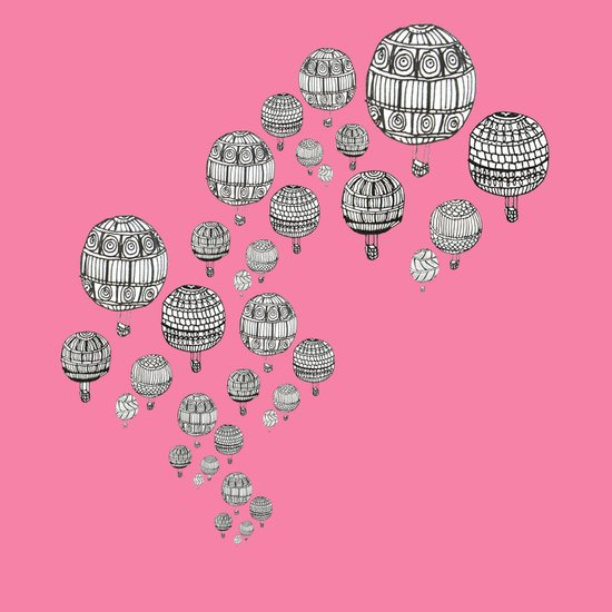 balloons in the pink Art Print