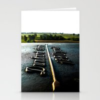 [1280 yards] As the bird flies Stationery Cards
