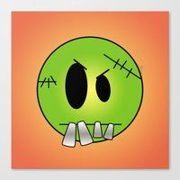 Scary Little Frankinstei… Canvas Print