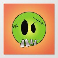 Scary Little Frankinstein Canvas Print