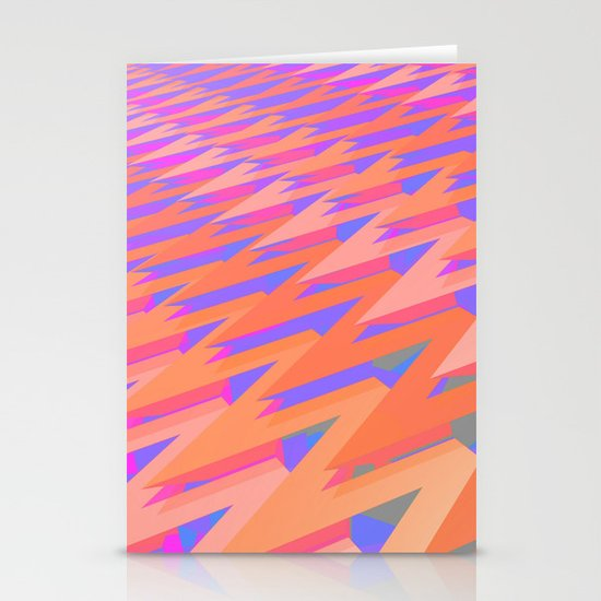 Pastel ZigZag Pattern Stationery Card