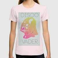 Disco Vader Womens Fitted Tee Light Pink SMALL