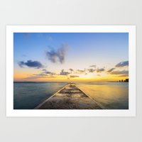 Golden Hour in Waikiki Art Print