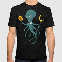 Mr Octopus Mens Fitted Tee Tri-Black SMALL