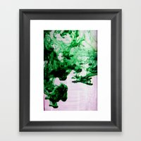 Green Framed Art Print