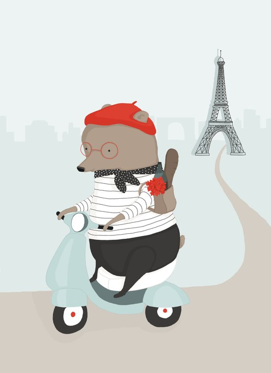 Pierre Picnics in Paris Art Print