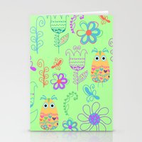 owls Stationery Cards featuring Owls by luizavictoryaPatterns