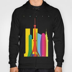 Shapes of Tokyo. Accurate to scale. Hoody