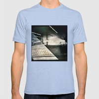 Montreal urbain Mens Fitted Tee Tri-Blue SMALL