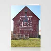 Start Here, It's All Abo… Stationery Cards
