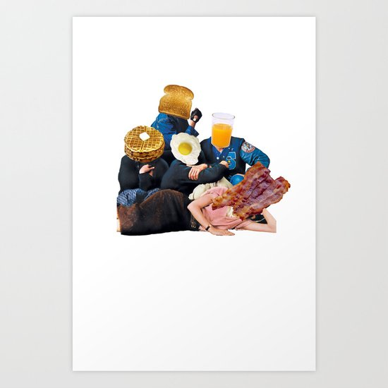 The Most Important Meal Of The Day Art Print By Cody C