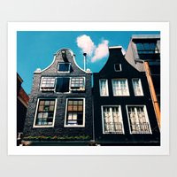 oh those houses ^_^  Art Print