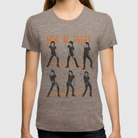 Move Like Jagger (MOVE LIKE COLLECTION) Womens Fitted Tee Tri-Coffee SMALL