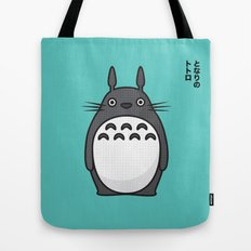 Totoro Pop Art - Blue Version Tote Bag