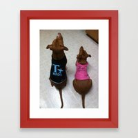 Grease Dogs Framed Art Print