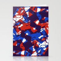 Scrunched paper pattern Stationery Cards