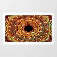 Through The Wormhole part 1 Art Print