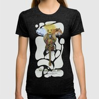 WE GOVERN WE // Lionsand… Womens Fitted Tee Tri-Black SMALL