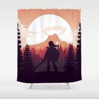 The Legend of Zelda - Orange Version Shower Curtain