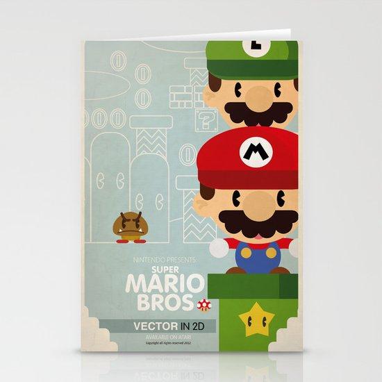 mario bros 2 fan art Stationery Card