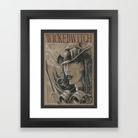 Witch In Steam-punk Styl… Framed Art Print
