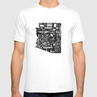 Typographic Arizona Mens Fitted Tee White SMALL