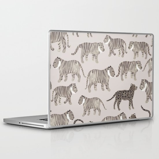Gray Tigers Laptop & iPad Skin