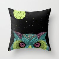 The Mystique Owl Throw Pillow