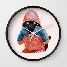 Boxing Cat 2  Wall Clock