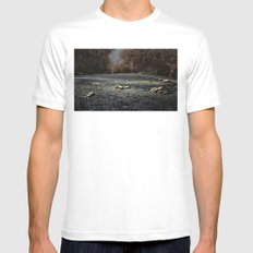 Road SMALL White Mens Fitted Tee