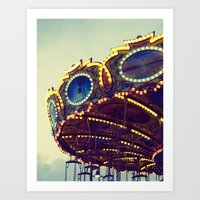 Blue Hour at the Carnival II Art Print