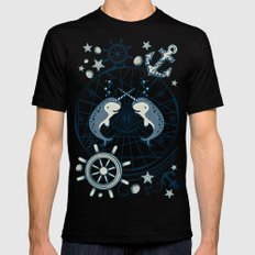 Narwhal Mens Fitted Tee Black SMALL