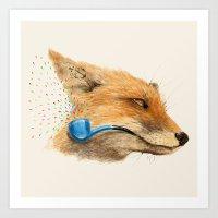 Fox V Art Print