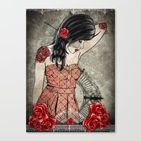 Rosa Replica Canvas Print