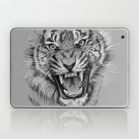 Tiger Drawing Black and White Animals Laptop & iPad Skin