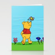 Winnie Butterfly Stationery Cards