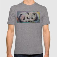 Baby Pandas Mens Fitted Tee Tri-Grey SMALL