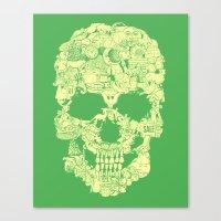 Clip Art Skull Canvas Print