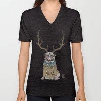Deer Pug Unisex V-Neck