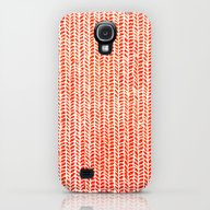 Stockinette Orange Galaxy S4 Slim Case