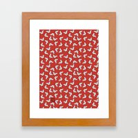 Birds {All birdie around - red} Framed Art Print