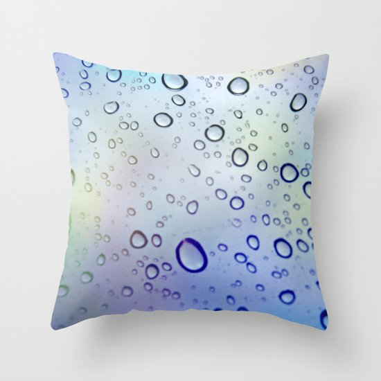 The Raindrops Throw Pillow