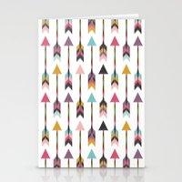 Bohemian Arrows-Pattern Stationery Cards