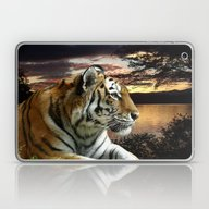 Laptop & iPad Skin featuring Sunset Tiger by Moody Muse