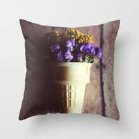 Flower Cone III Throw Pillow