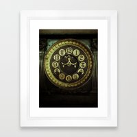 clock Framed Art Print