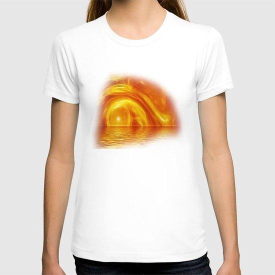 Sunset fractal T-shirt